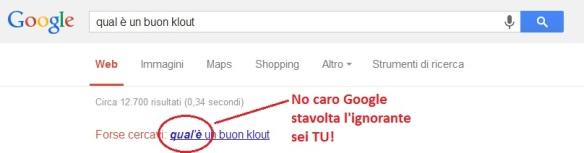 L'ignoranza di Google su: qual è